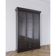 Шкаф для книг 3-х дверный в цвете Антик