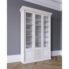 Шкаф для книг 3-х дверный в цвете Белая эмаль