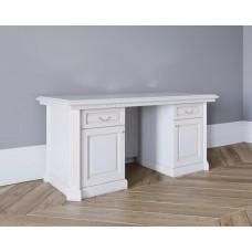 Стол письменный 2-х тумбовый в цвете Белая эмаль