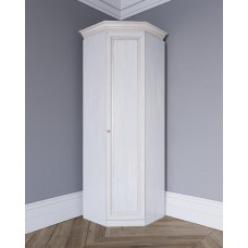 Угловой шкаф из массива Леди-модуль цвет Белая эмаль