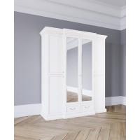 Леди Шкаф 4-х дверный цвет Белая эмаль