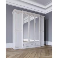 Леди Шкаф 5-и дверный цвет Белая эмаль